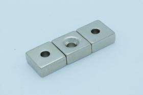 Магнит неодимовый 20х20x9,5 мм, отверстие 5 мм
