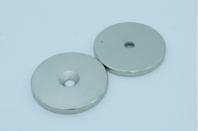 Магнит неодимовый. Диск 48х4,5 мм, отверстие 6,5 мм