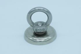 Магнит неодимовый. Диск D36 в корпусе с кольцом (34 кг)