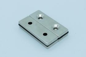 Магнит неодимовый 60х20x4,5 мм с двумя отверстиями по 5,5 мм
