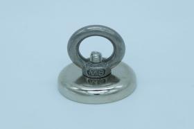 Магнит неодимовый. Диск D32 в корпусе с кольцом (16кг)