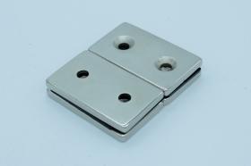 Магнит неодимовый 50х30x4,5 мм с двумя отверстиями 5,5 мм