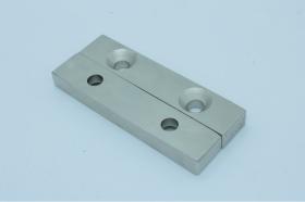 Магнит неодимовый 100х20x9,5 мм с двумя отверстиями 8 мм