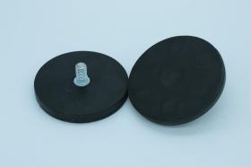 Магнит D66 в резиновой оболочке с болтом