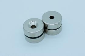 Магнит неодимовый. Диск 30х9,5 мм, отверстие 6 мм